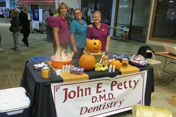 Dental team members at halloween event
